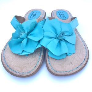 {boc} BORN | Turquoise Floral Leather Thong Sandal